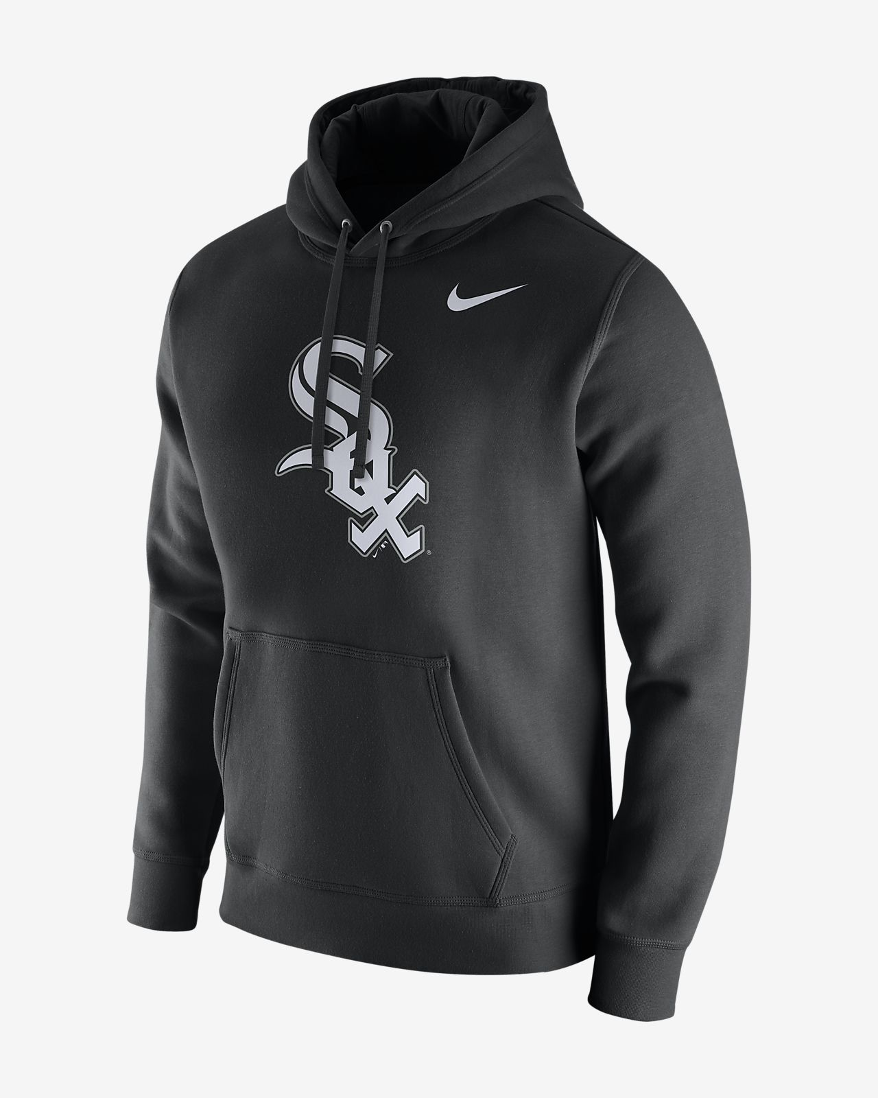 Nike Fleece Pullover (MLB White Sox) Men's Hoodies Black