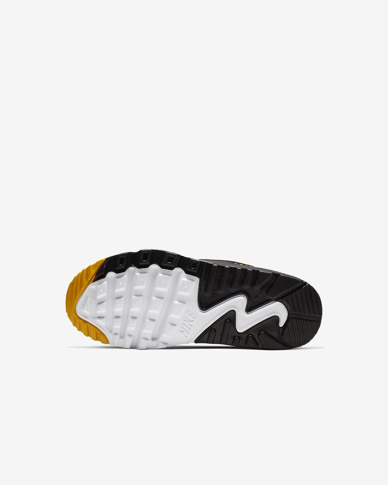 NIKE Air Max 90 Leather Sneakers Negro Niño Niños 9 16 Años