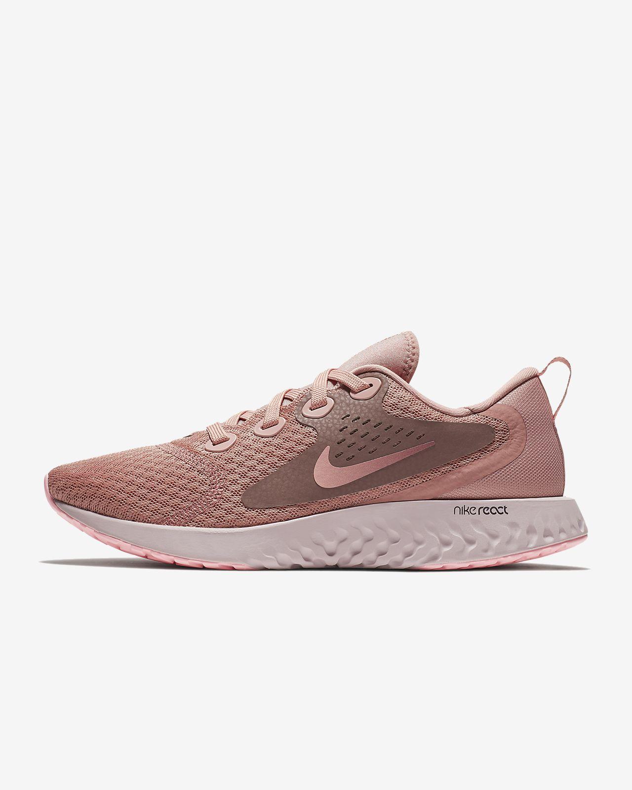 Nike Performance LEGEND REACT - Neutral running shoes - rust pink/pink tint/smokey mauve/sail x66baD