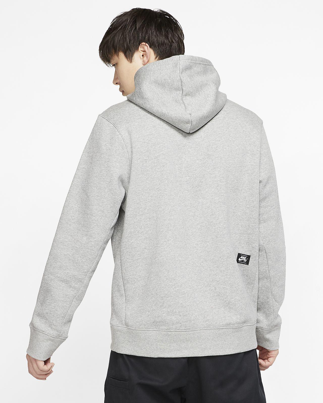 Nike SB Fleece Skate Hoodie Dark Grey