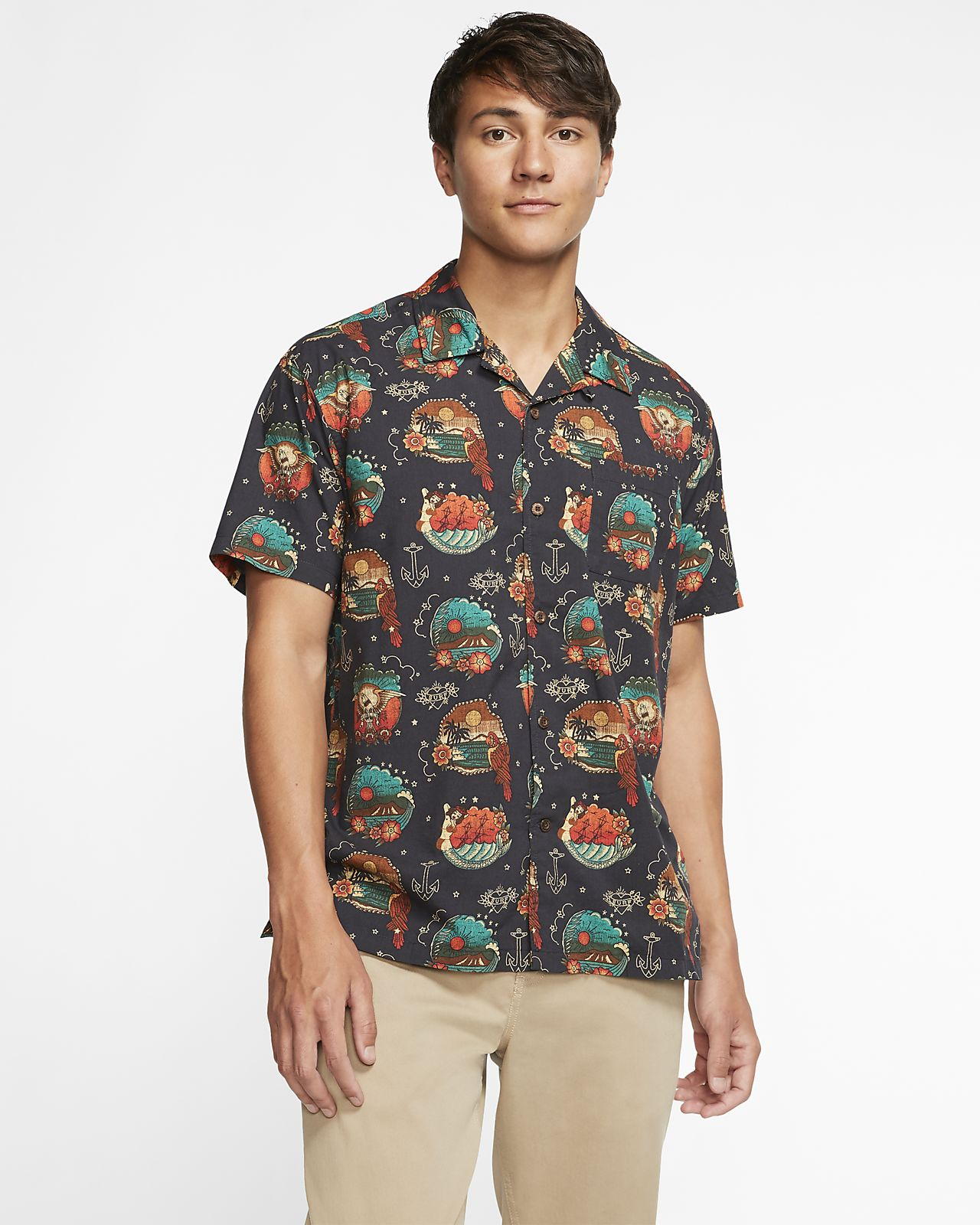 Hurley Tropic Flash Men's Short-Sleeve Top