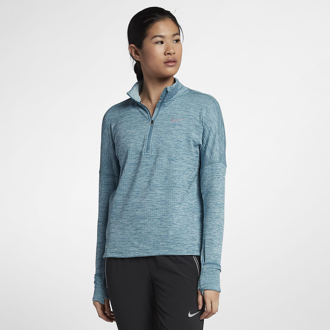 ... Nike Therma Sphere Element Women's Long Sleeve Running Half-Zip Top
