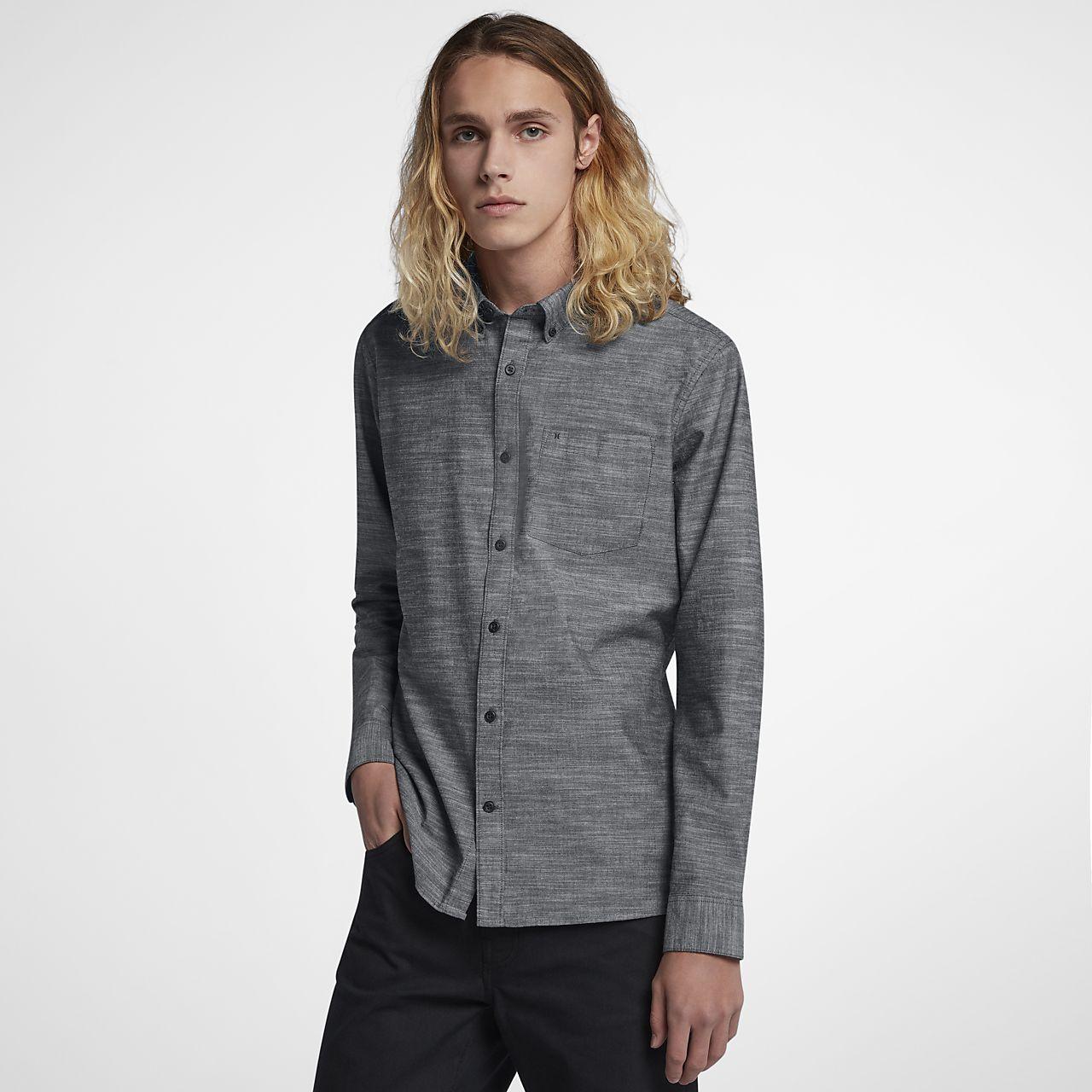 66fa386c3f91 Pánská košile Hurley One And Only s dlouhým rukávem. Nike.com CZ
