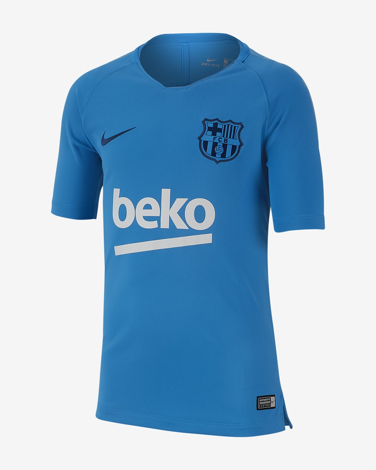 FC Barcelona Breathe Squad Older Kids' Football Top