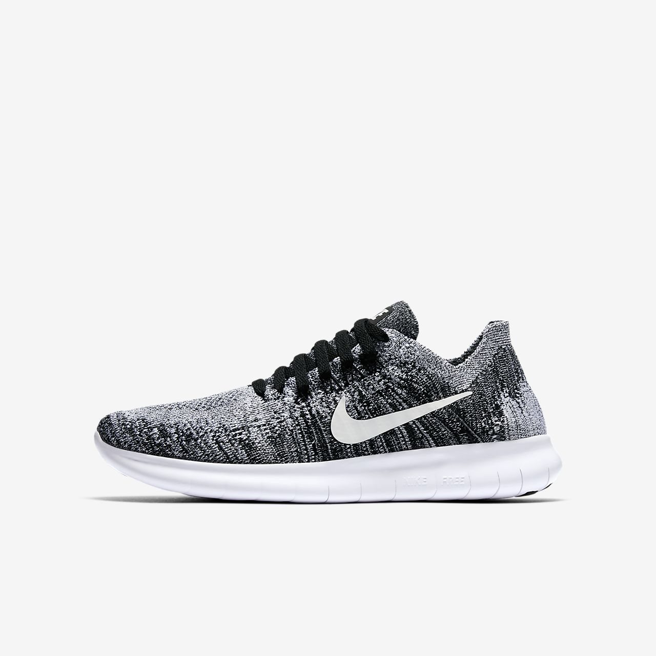 Nike Free RN 2017 Herren Schuhe Damen Turnschuhe Laufschuh Sneaker Schwarz Uni