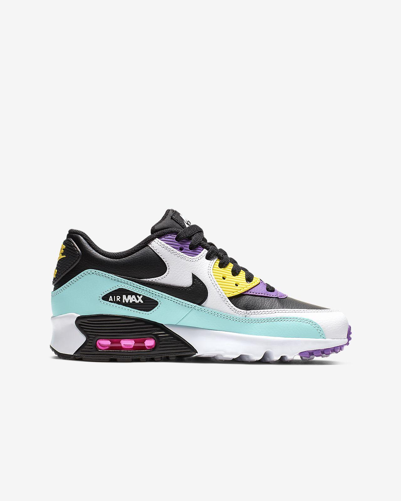 eb869b9c79e Nike Air Max 90 Leather Big Kids' Shoe