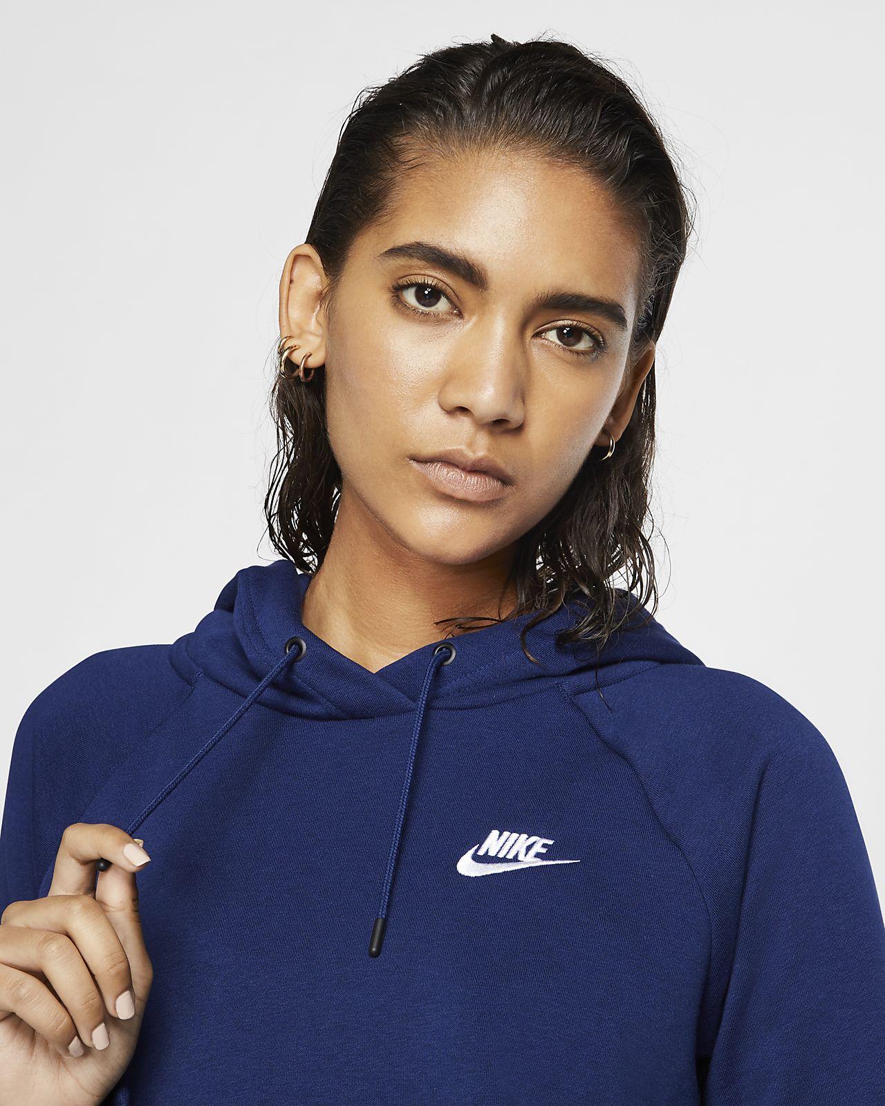 Nike Nike Sportswear Essential Women's Fleece Pullover Hoodie Size XL (Blue Void) BV4124 492 from NIKE | People