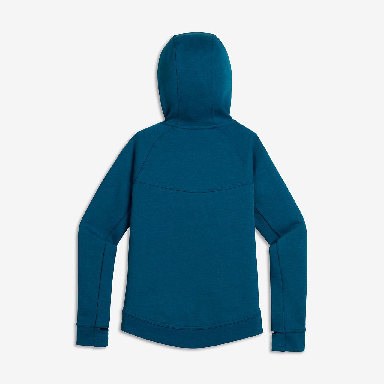 sweat capuche nike sportswear tech fleece pour fille plus g e ma. Black Bedroom Furniture Sets. Home Design Ideas