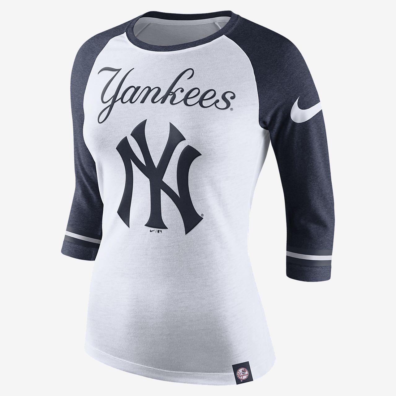 ... Nike Raglan (MLB Yankees) Women's 3/4 Sleeve T-Shirt