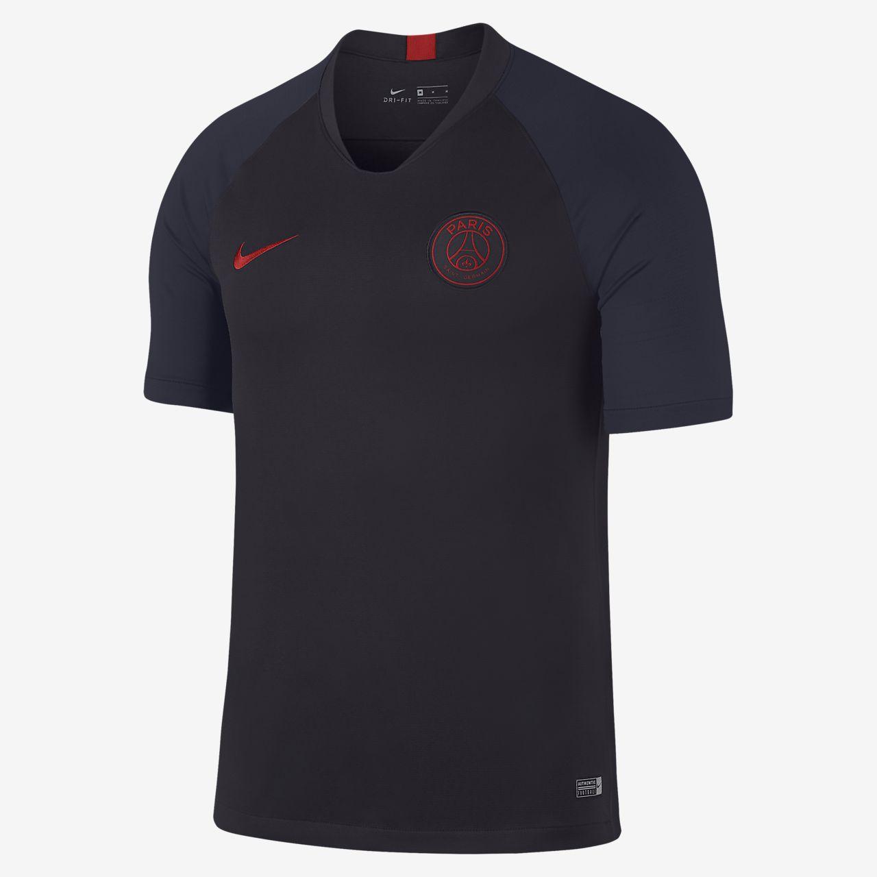 Prenda para la parte superior de fútbol de manga corta para hombre Nike Breathe Paris Saint-Germain Strike