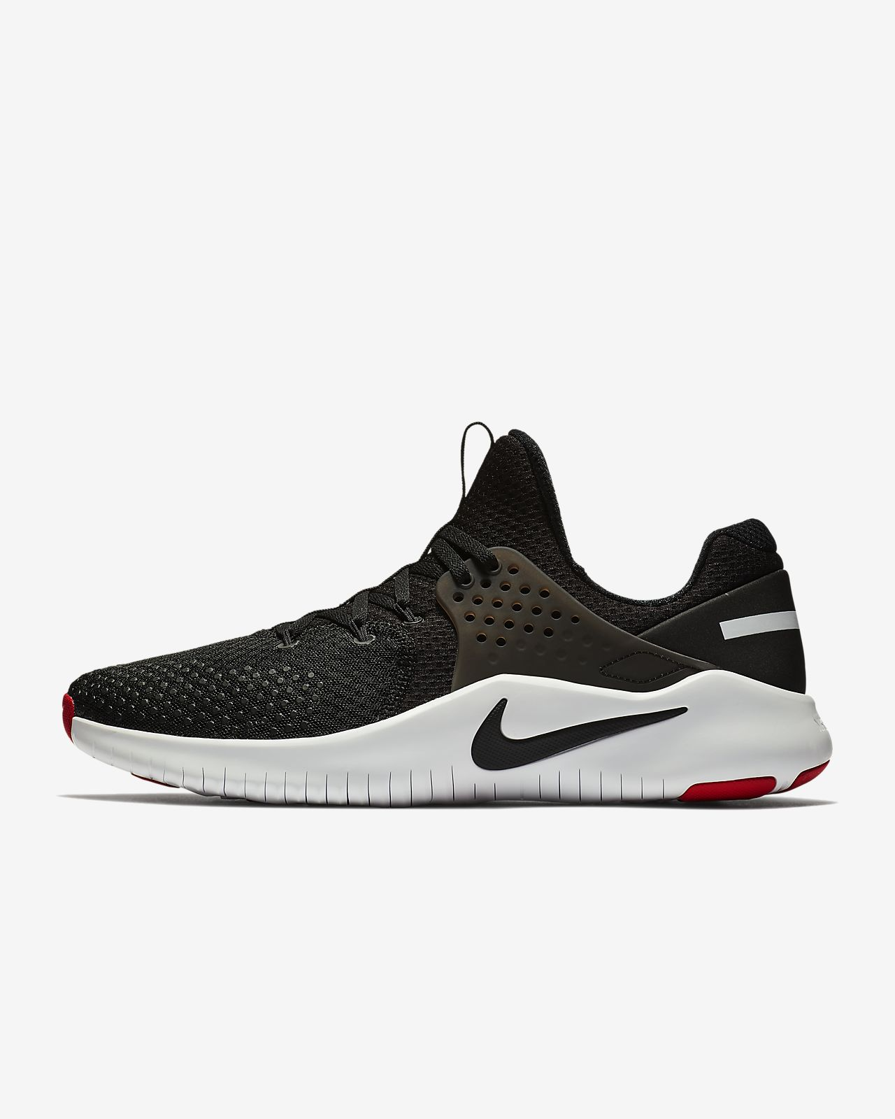 Nike Performance FREE TRAINER V8 - Sports shoes - black/white/red blaze LC7Q3k