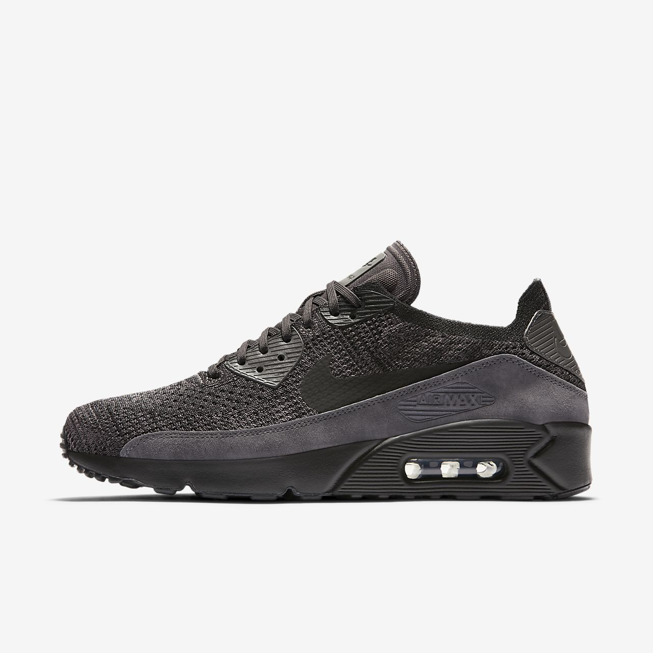 nike air max 90 mens shoes black gray 5037183800