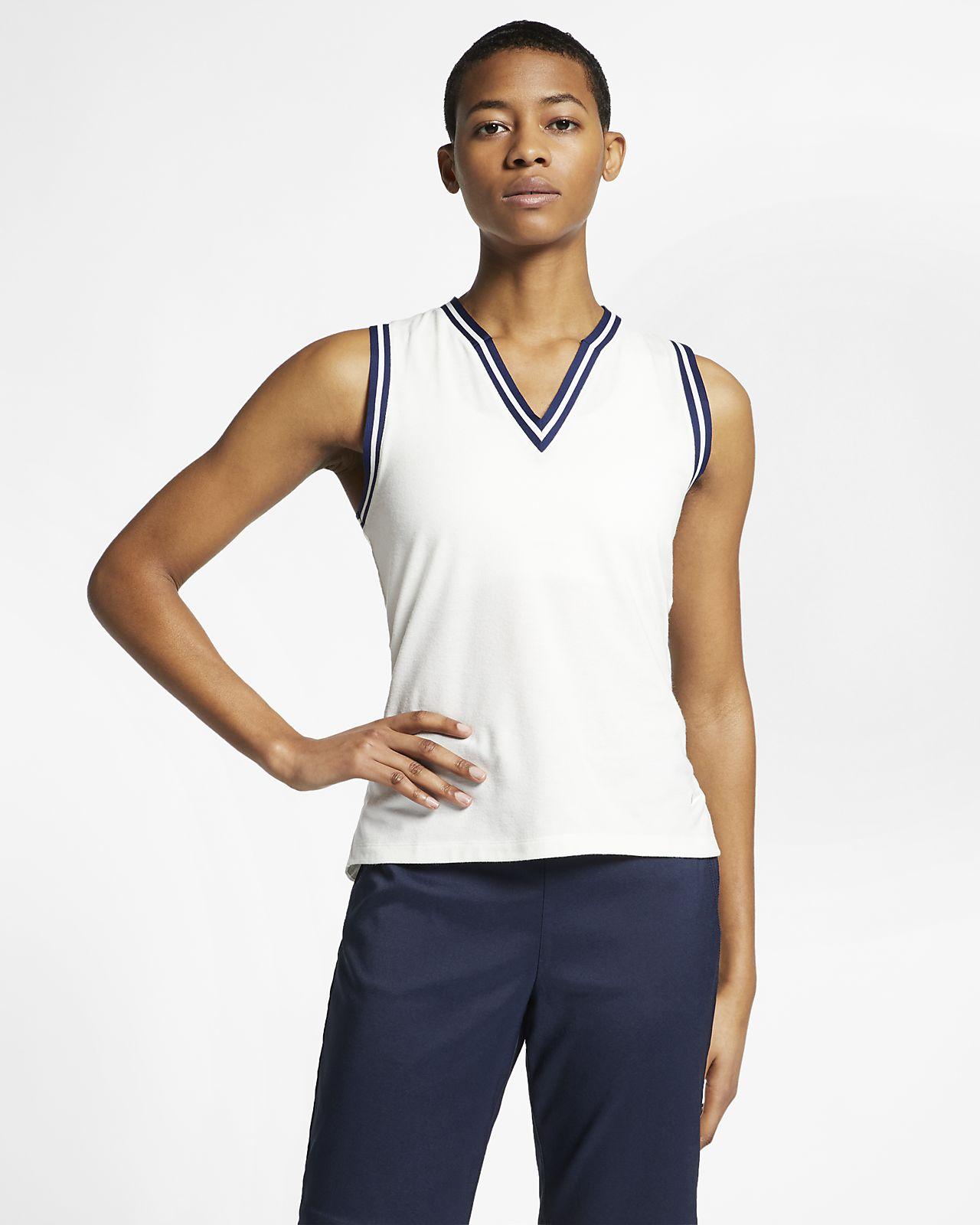 Polo de golf sans manches Nike Dri-FIT pour Femme