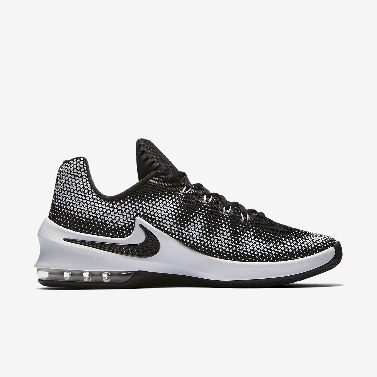Nike Black And Silver Sports Shoes