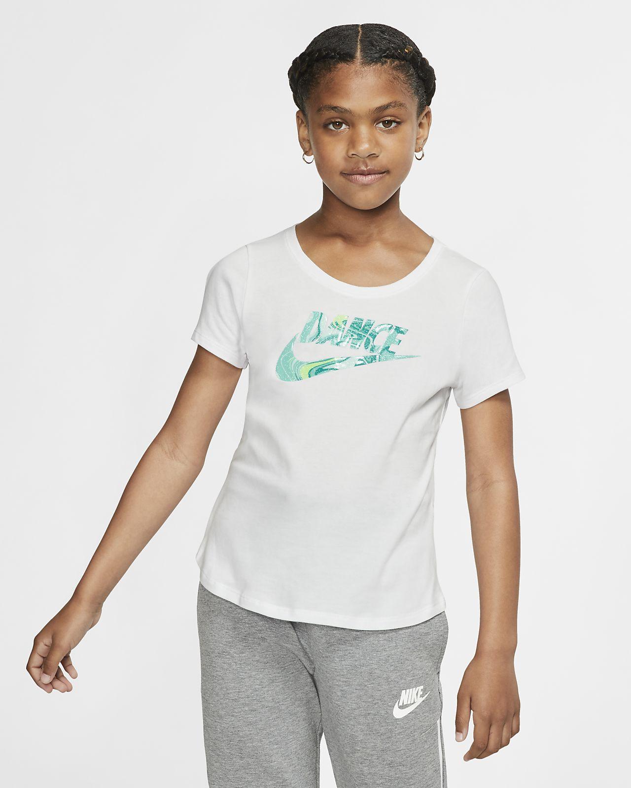 f29e0abef1 Nike Dri-FIT Big Kids' (Girls') Training T-Shirt. Nike.com
