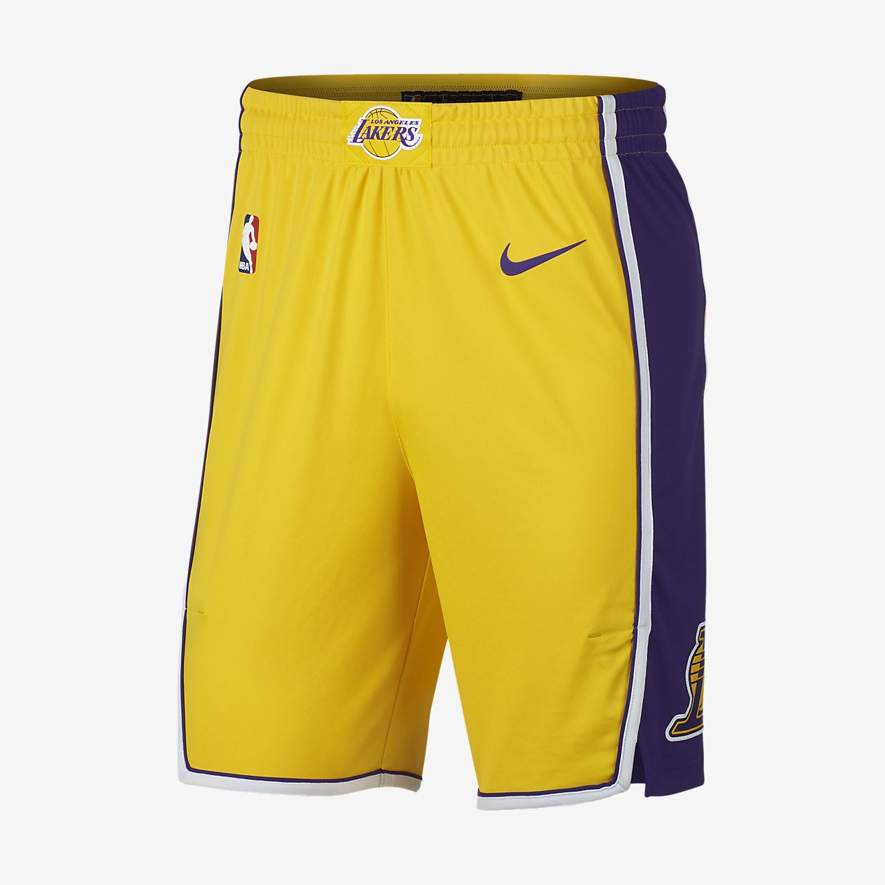 Los Angeles Lakers Nike Icon Edition Authentic Men s NBA Shorts ... 2809eacf2b06