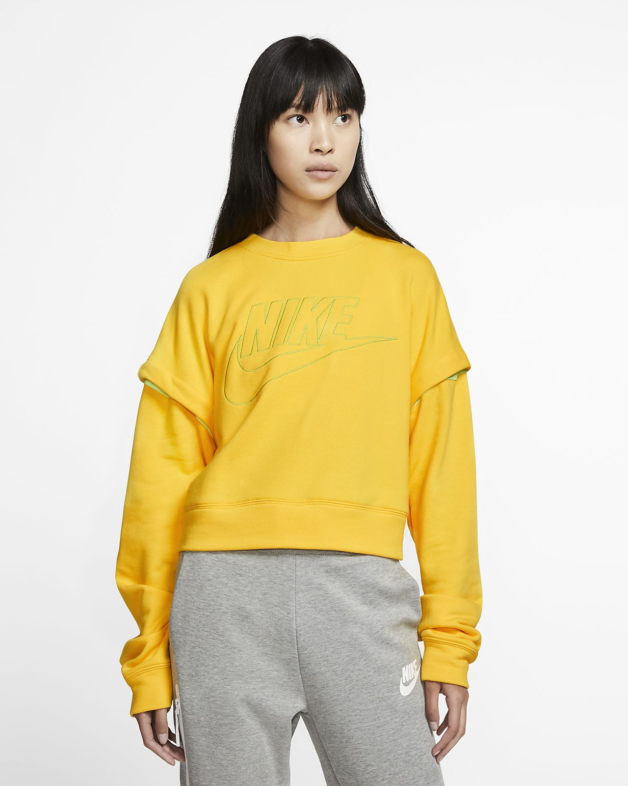 Fleecetröja Nike med rund hals för kvinnor