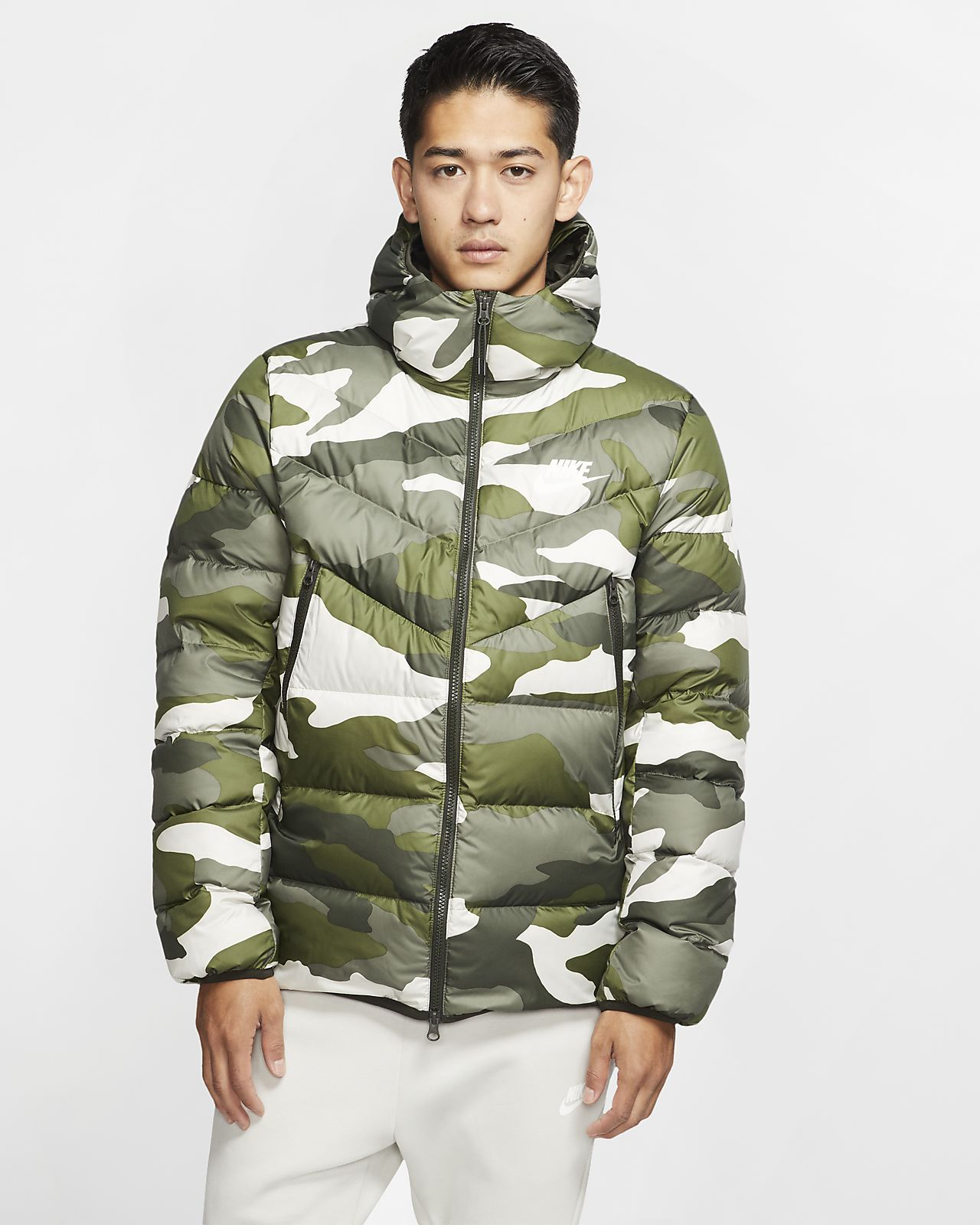 Nike Sportswear Down-Fill Windrunner Printed Hooded Jacket