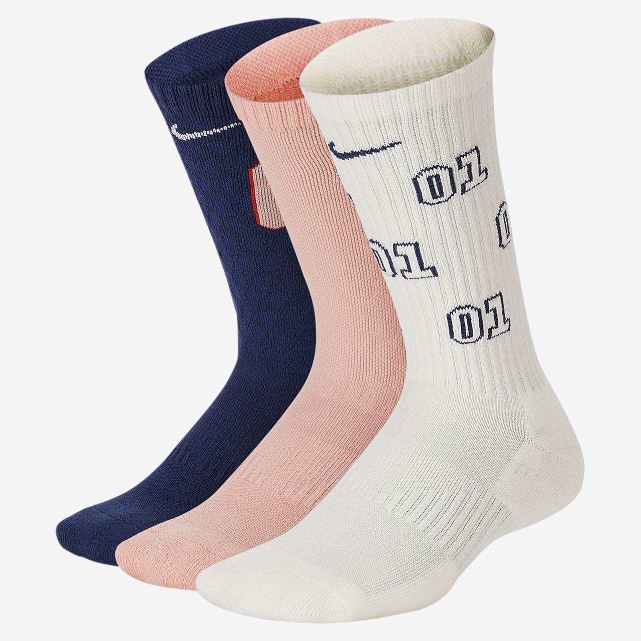 Mjuka strumpor Nike Everyday för barn (3 par)