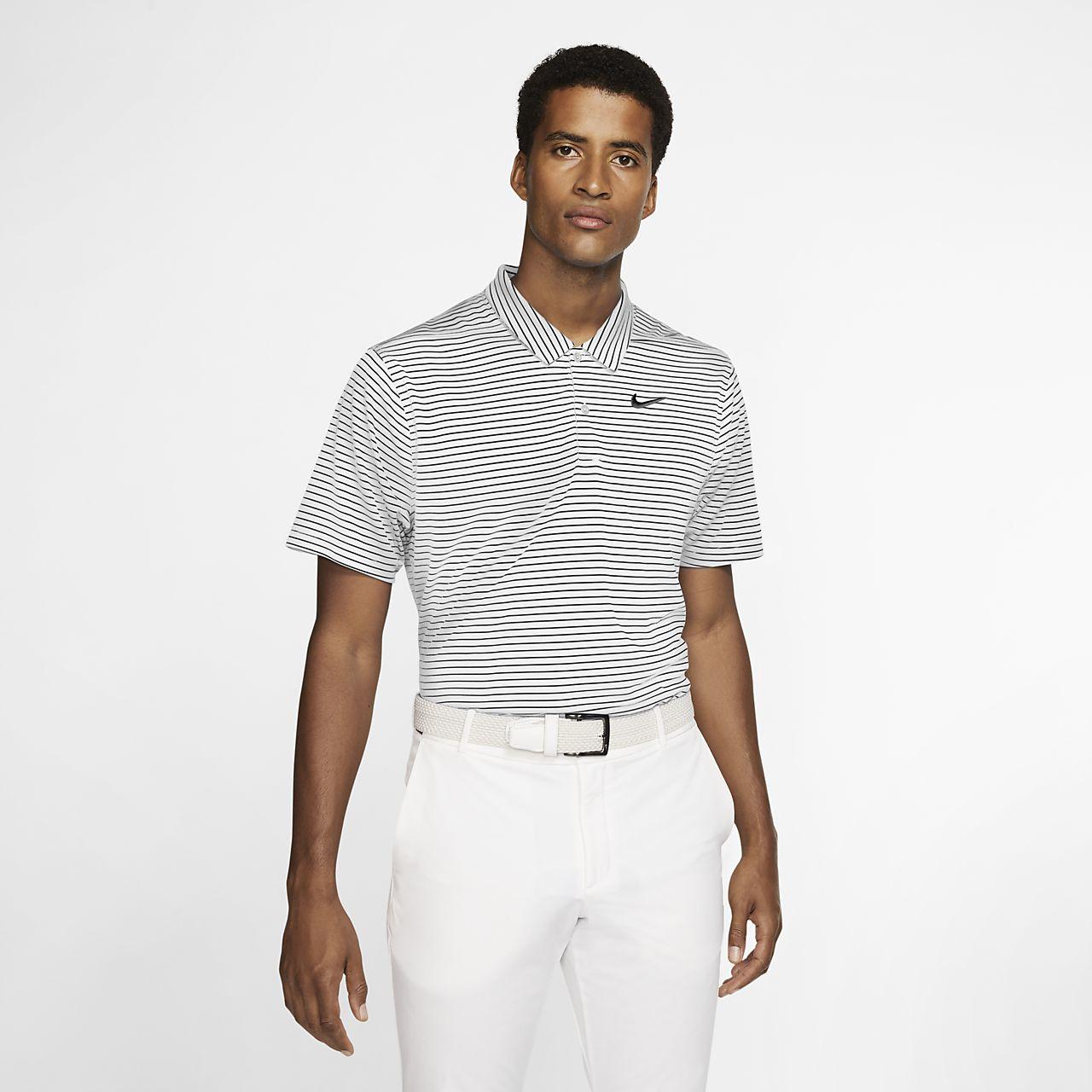 Polo de golf à rayures Nike Dri-FIT pour Homme