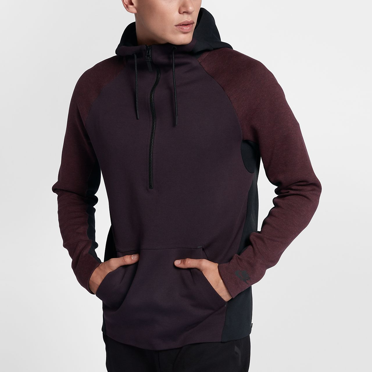 nike sportswear tech fleece men 39 s half zip hoodie sk. Black Bedroom Furniture Sets. Home Design Ideas