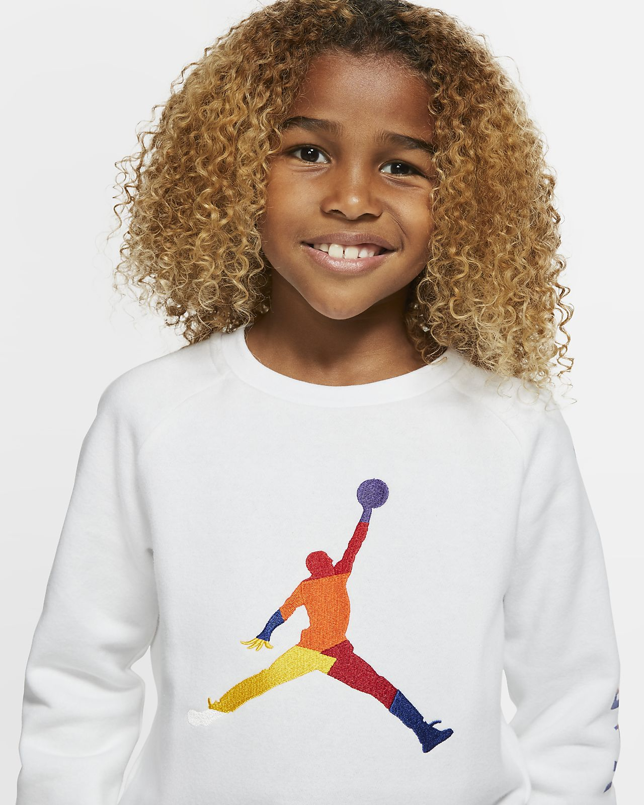 Air Jordan Fleece Rundhalsshirt für jüngere Kinder