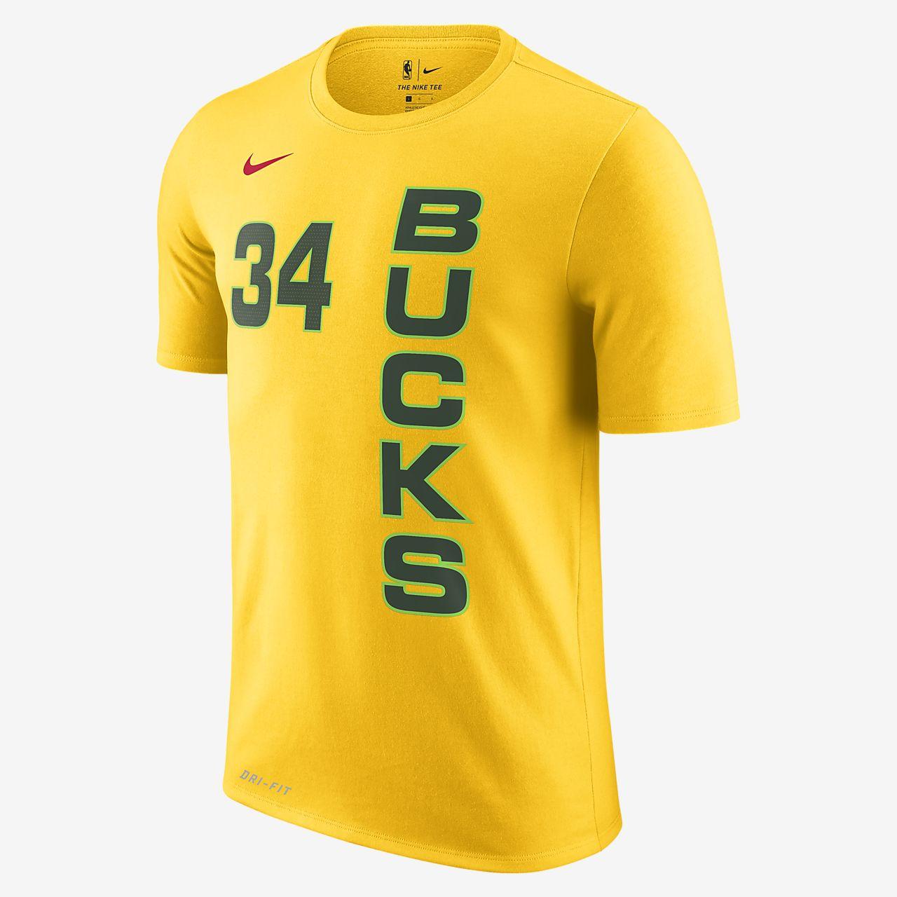 Giannis Antetokounmpo Milwaukee Bucks City Edition Nike Dri-FIT Men s NBA  T-Shirt 16a78e6ac