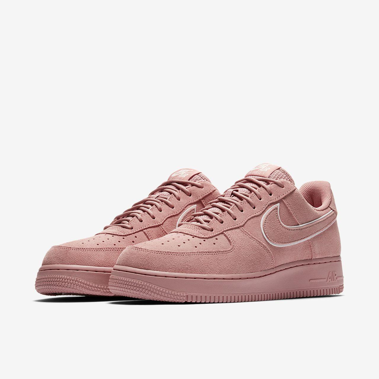 Nike Pink Air Force 1 07 Lv8 Suede
