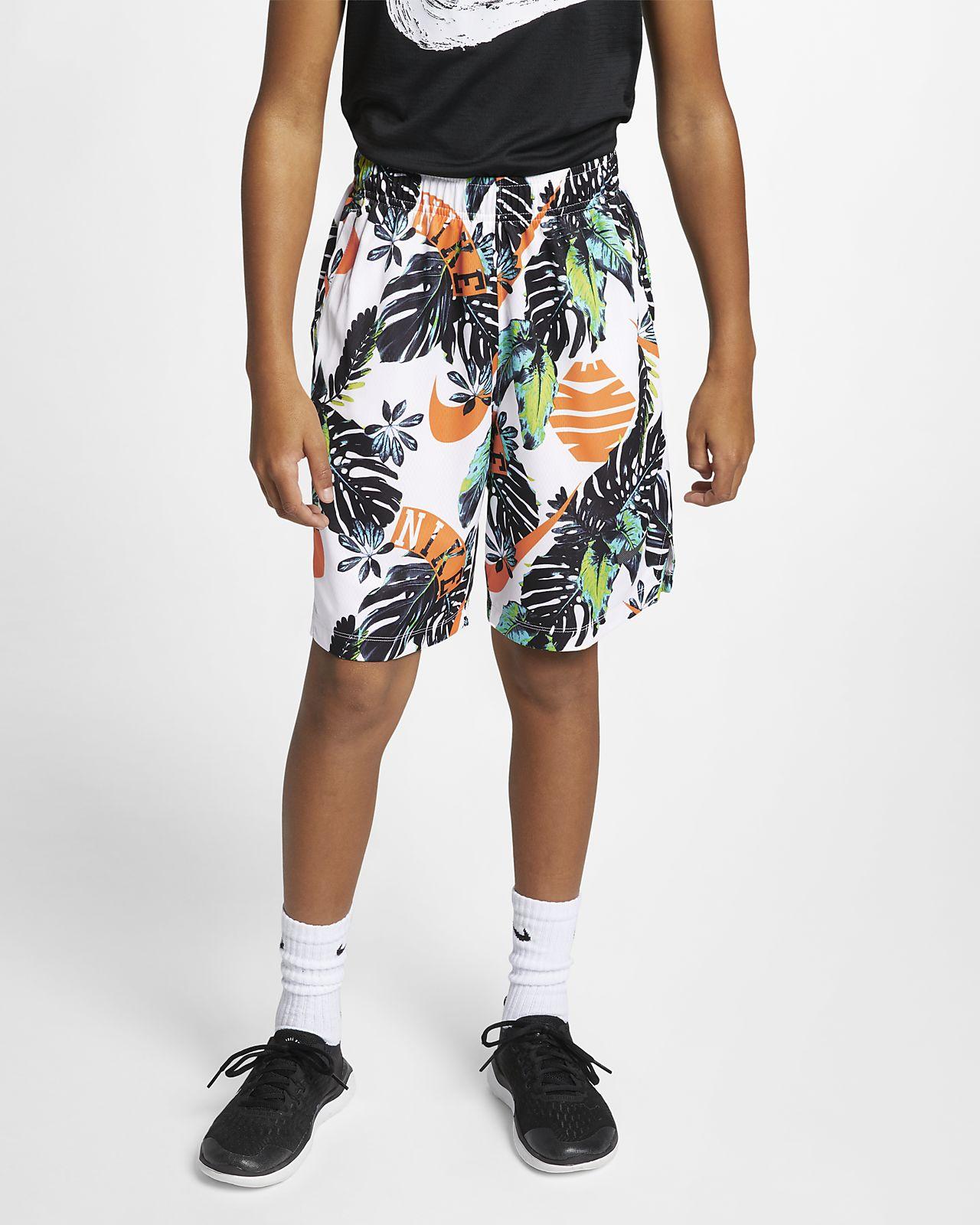 Nike Dri-FIT Trainingsshorts met print voor jongens