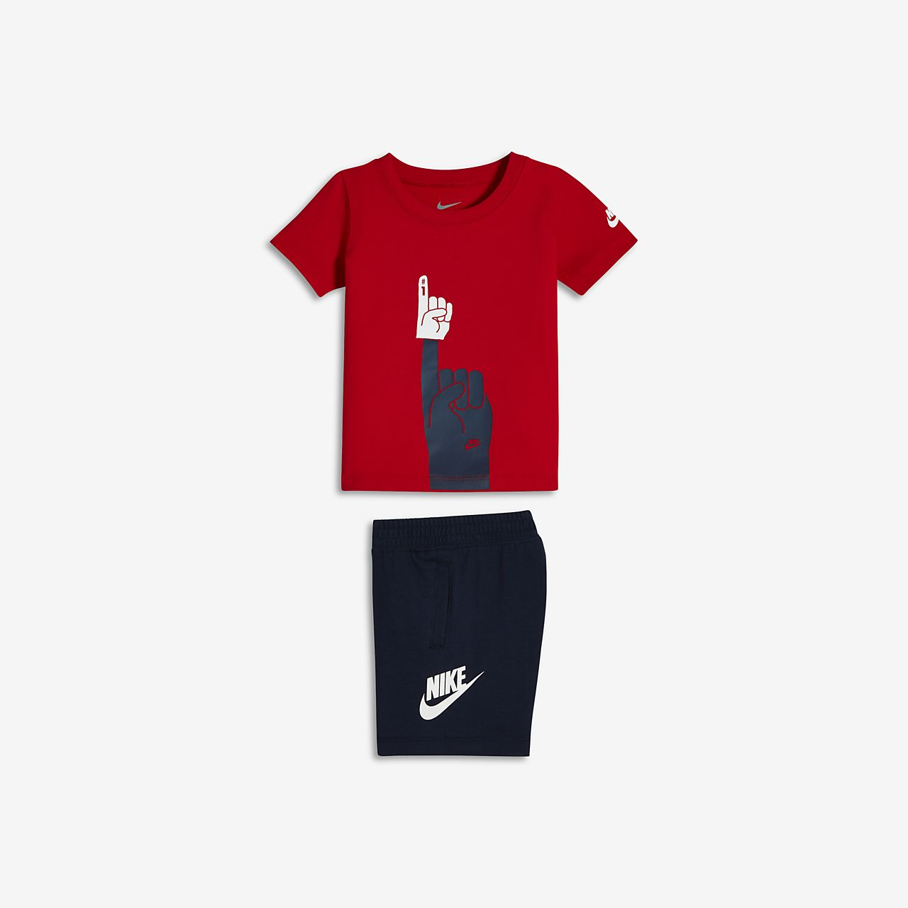 Nike Futura Foam Finger Two-Piece Infant/Toddler T-Shirt and Shorts