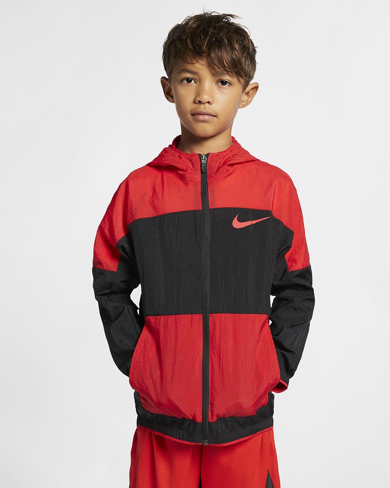 Nike Dri-FIT vevd treningsjakke til store barn