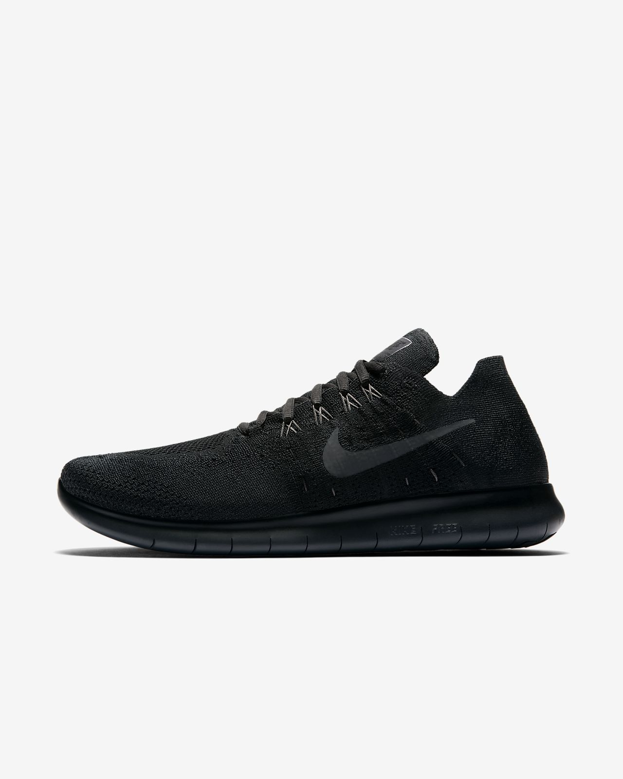 nike free rn flyknit 2017 black/anthracite/university