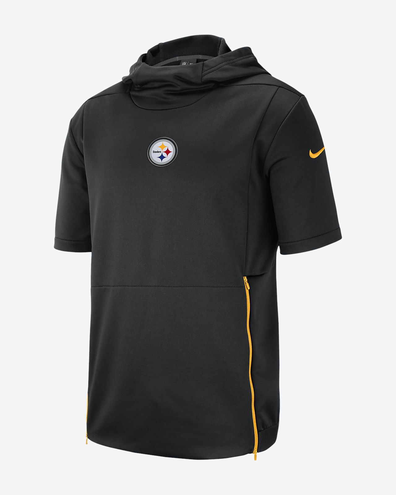 84c85447c29e Nike Dri-FIT Therma (NFL Steelers) Men s Hooded Short Sleeve Top ...