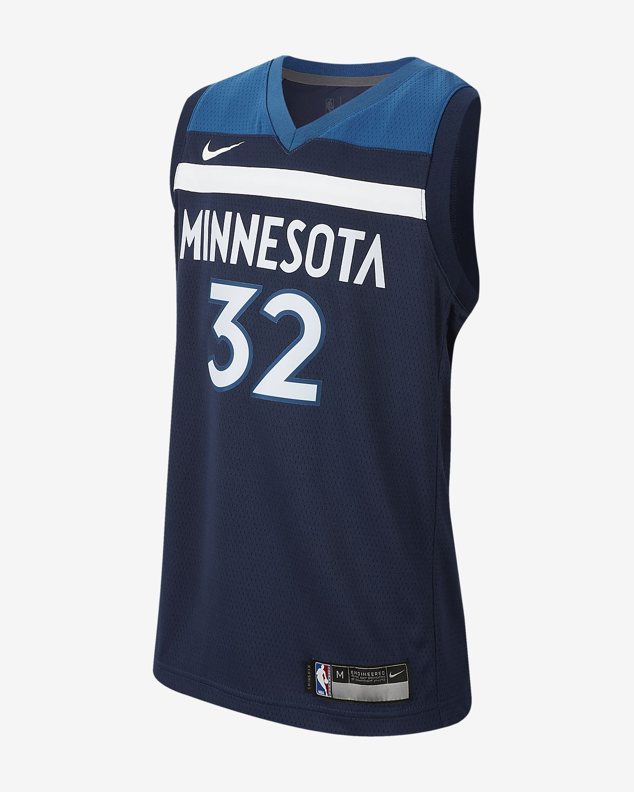detailed look 1fa90 98c40 Karl-Anthony Towns Icon Edition Swingman (Minnesota Timberwolves) Big Kids'  Nike NBA Jersey