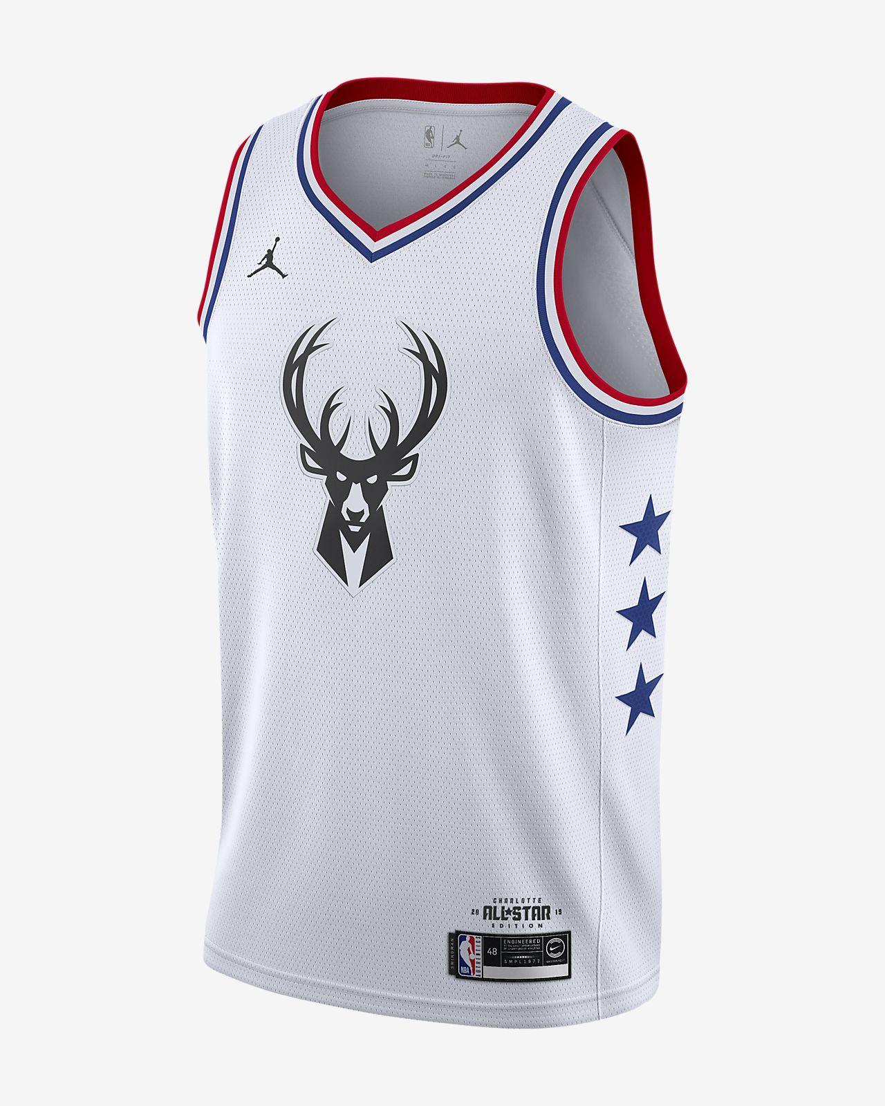 Men s Jordan NBA Connected Jersey. Giannis Antetokounmpo All-Star Edition  Swingman 767498754