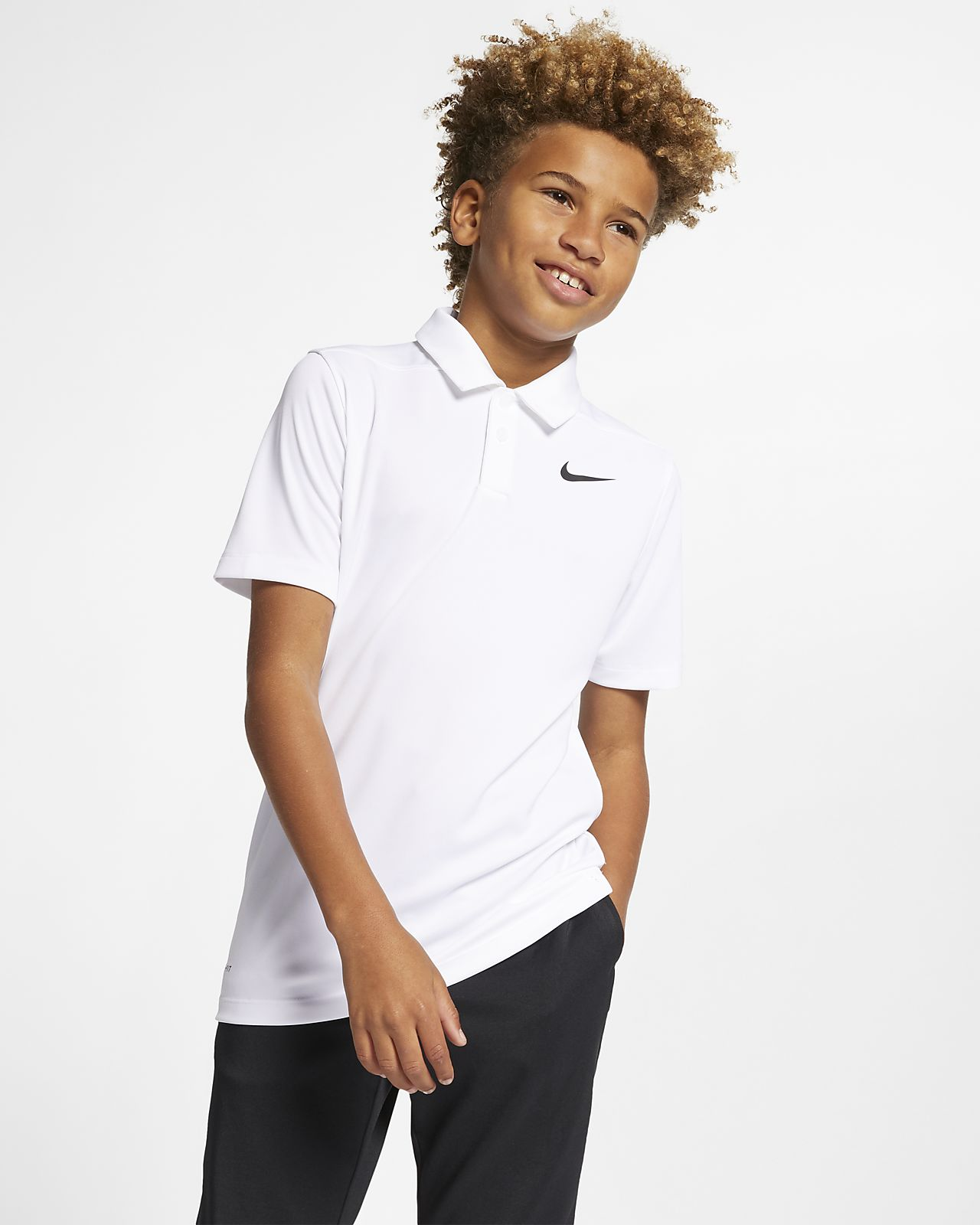 Рубашка-поло для гольфа для мальчиков школьного возраста Nike Dri-FIT Victory