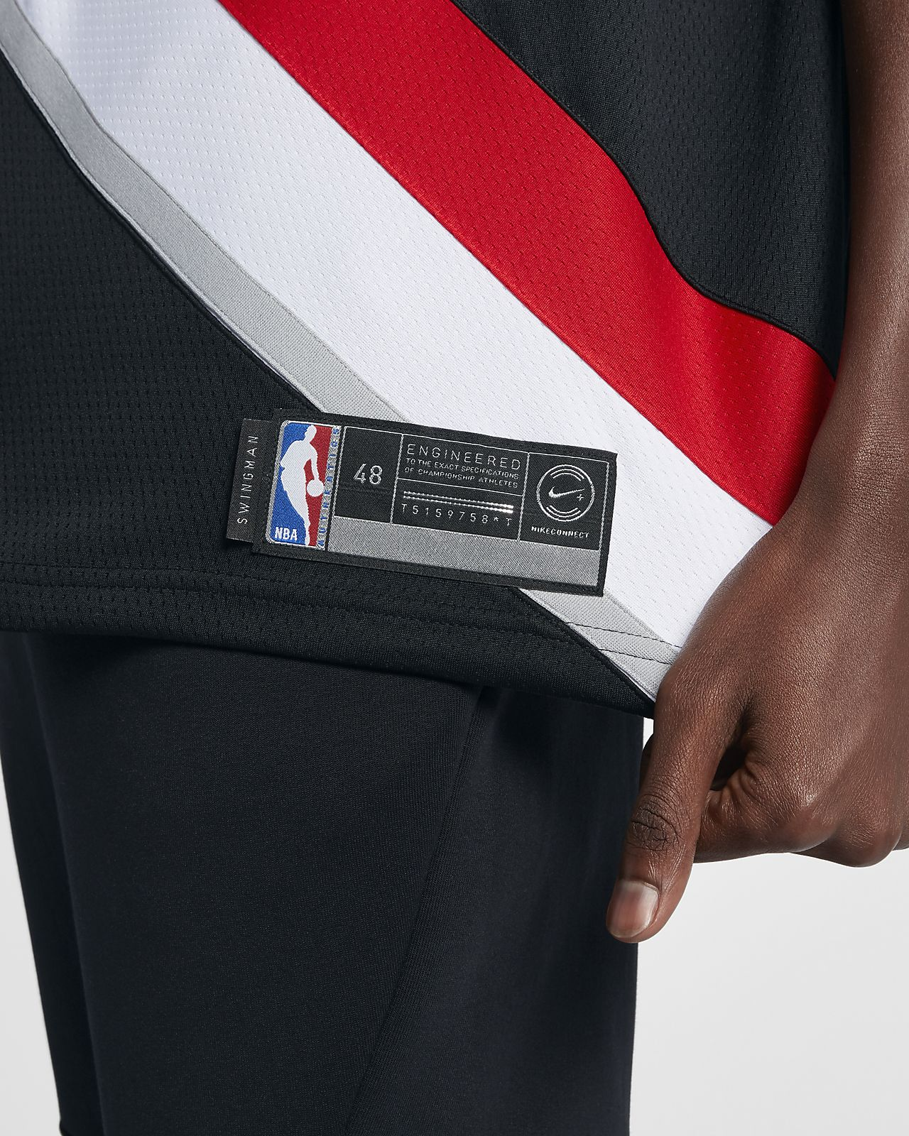 4c4e4b8fb58 ... Damian Lillard Icon Edition Swingman (Portland Trail Blazers) Men's  Nike NBA Connected Jersey