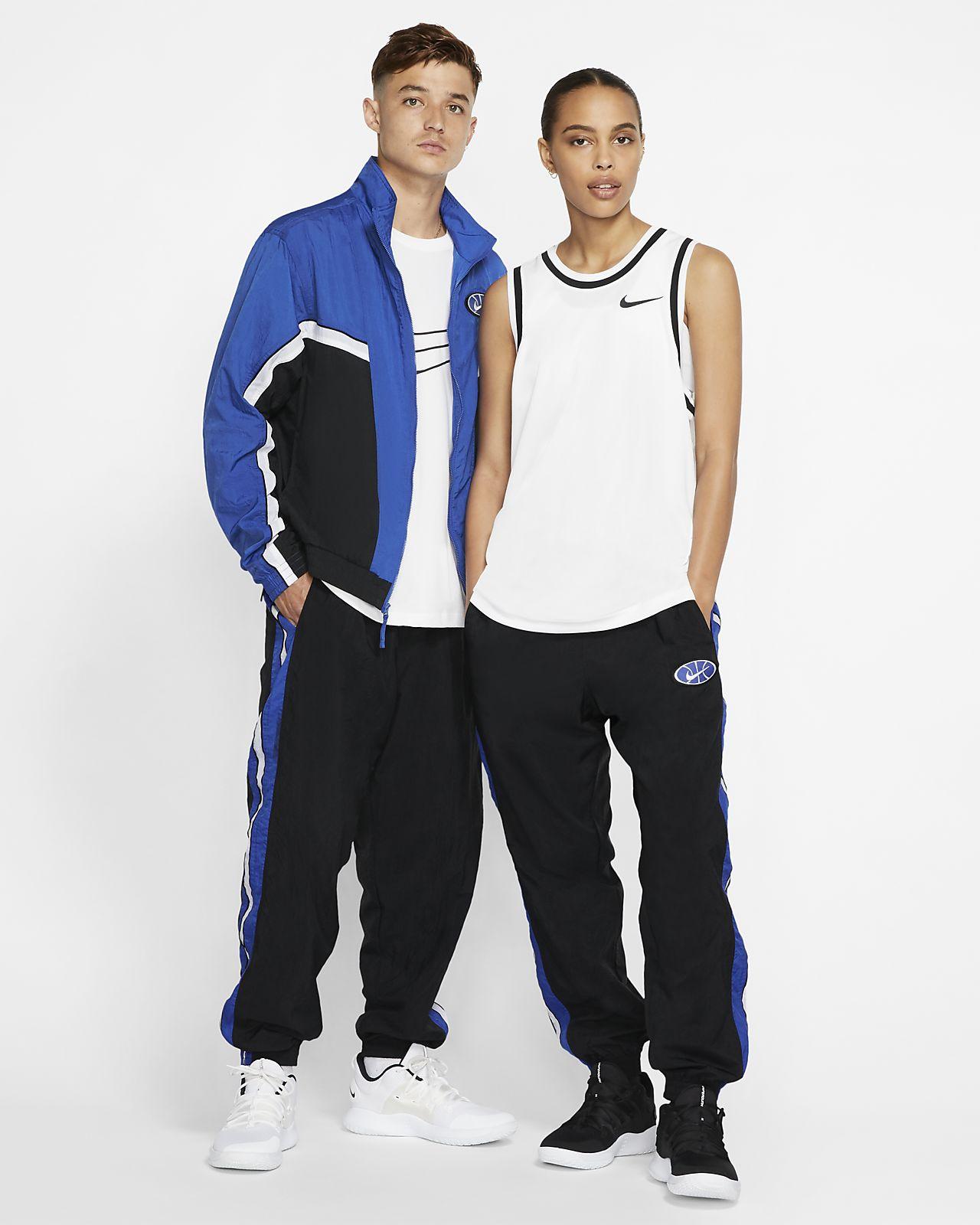 Spodnie z tkaniny do koszykówki Nike Throwback