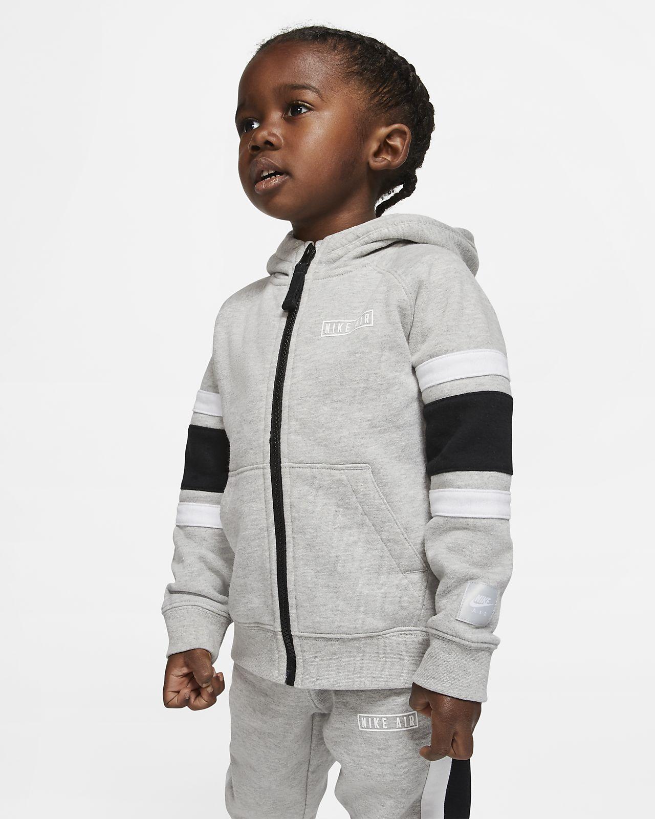Nike Air hosszú cipzáras, kapucnis polárpulóver babáknak