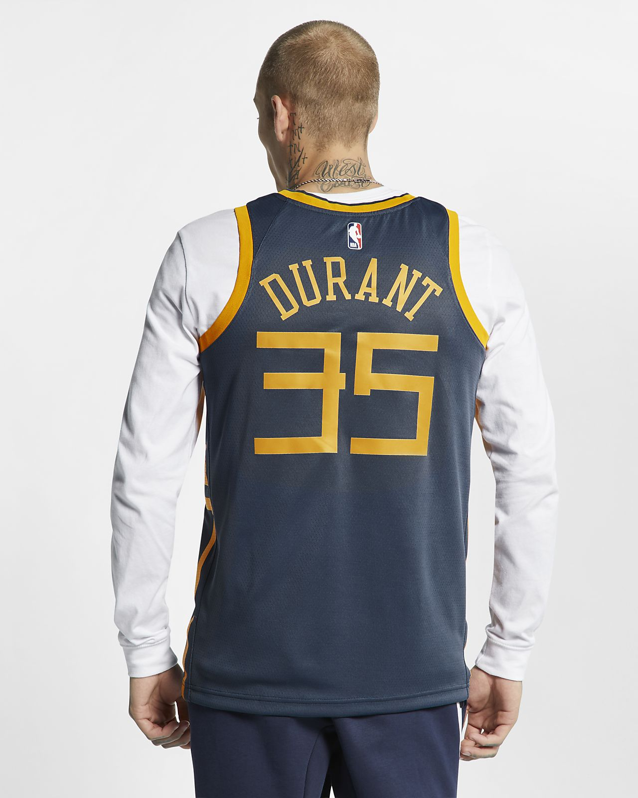 c5ad4734453 ... Maillot connecté Nike NBA Kevin Durant City Edition Swingman (Golden  State Warriors) pour Homme