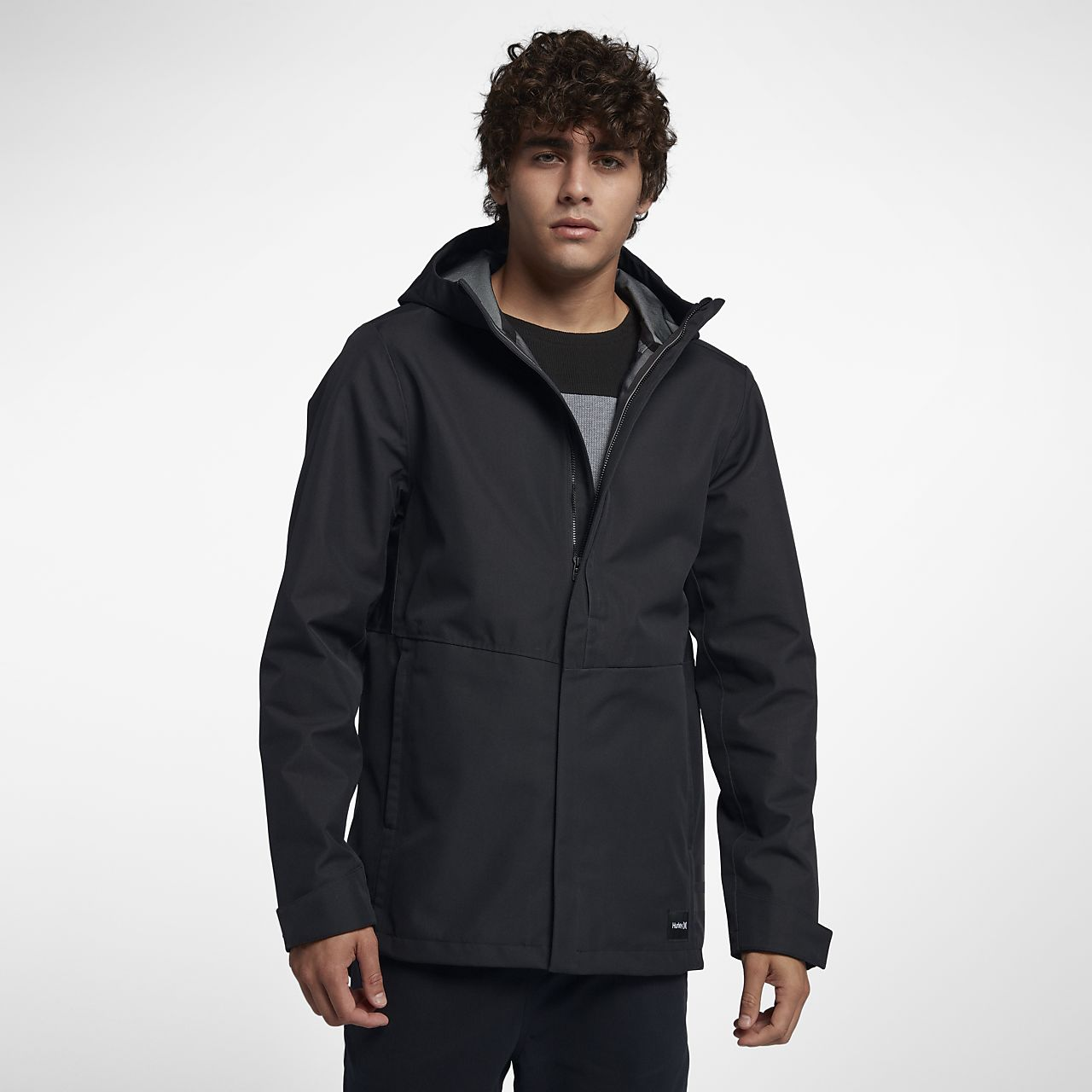 4e39185b6ddf Hurley Outrider 3-Layer Shell Men s Hooded Jacket. Nike.com
