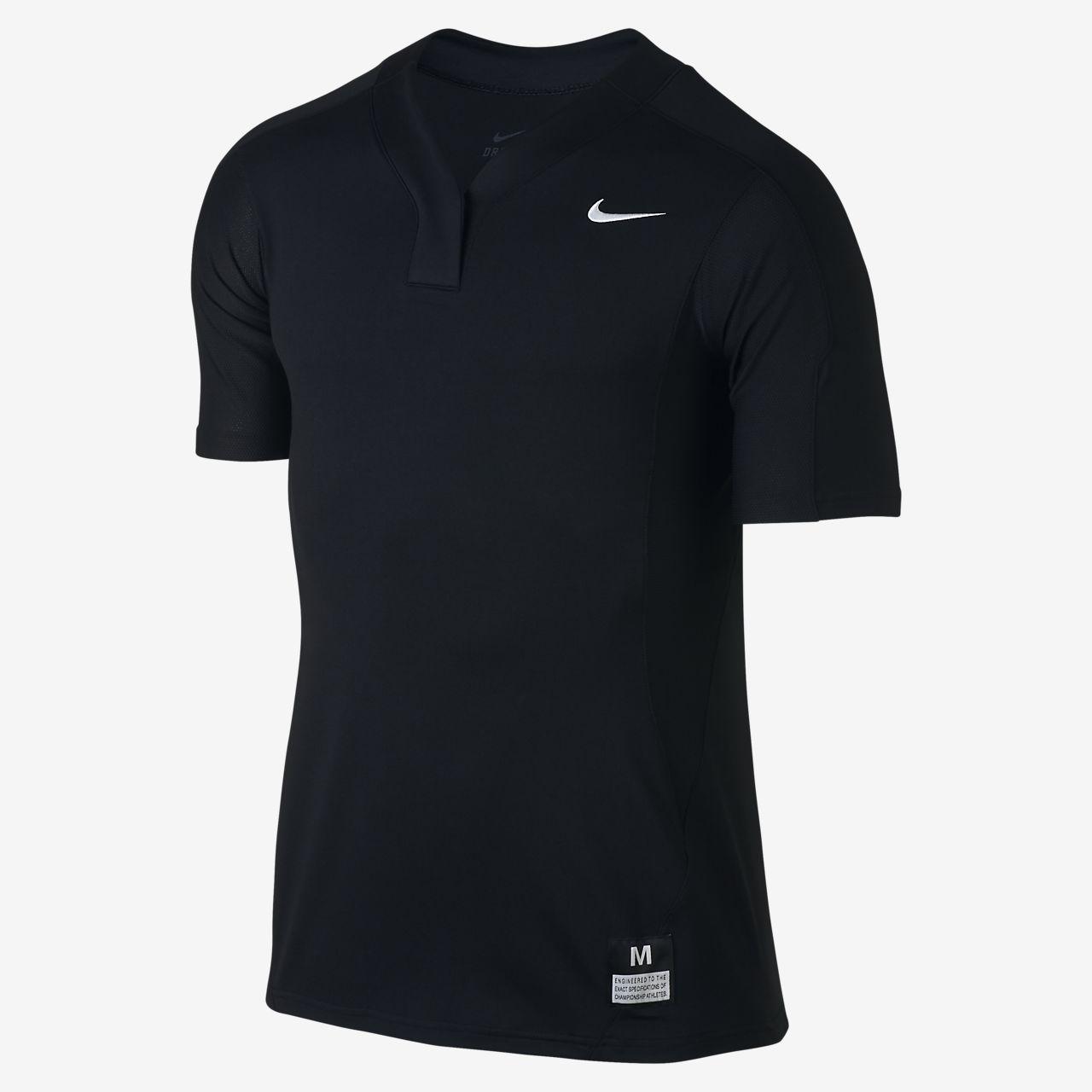 Nike Vapor Dri-FIT Stock Baseball Jersey Boys Team Black/Team Blue Grey/Team White