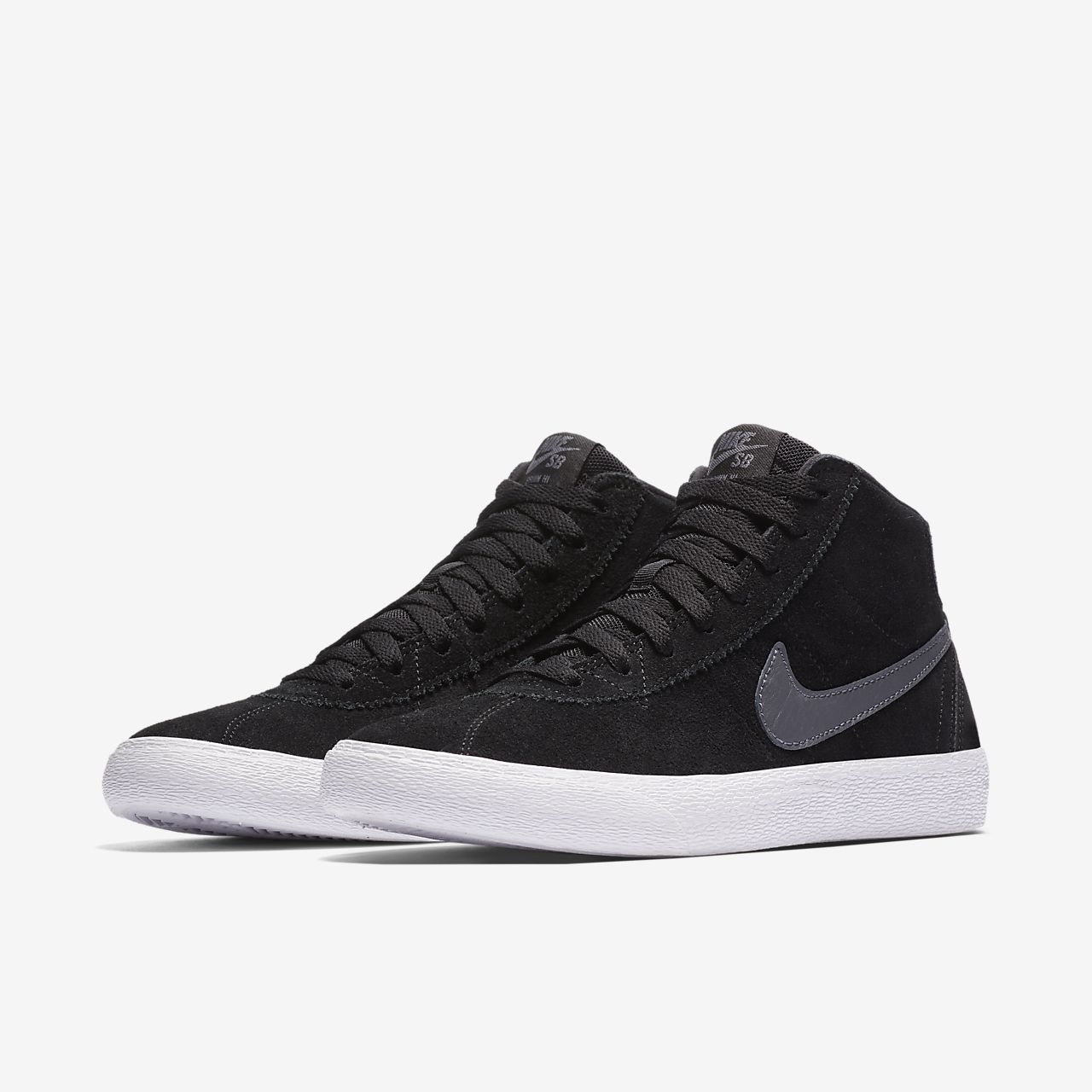 SB Women's Bruin Hi Shoe 923112 - Black/Dark Grey-White US 9.5