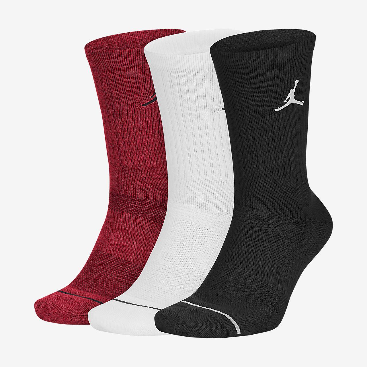 Basketbalové ponožky Jordan Jumpman Crew (3 páry)