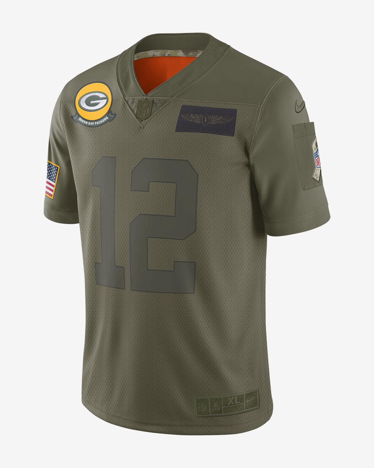 NFL Green Bay Packers Limited Salute To Service (Aaron Rodgers) Men's Football Jersey