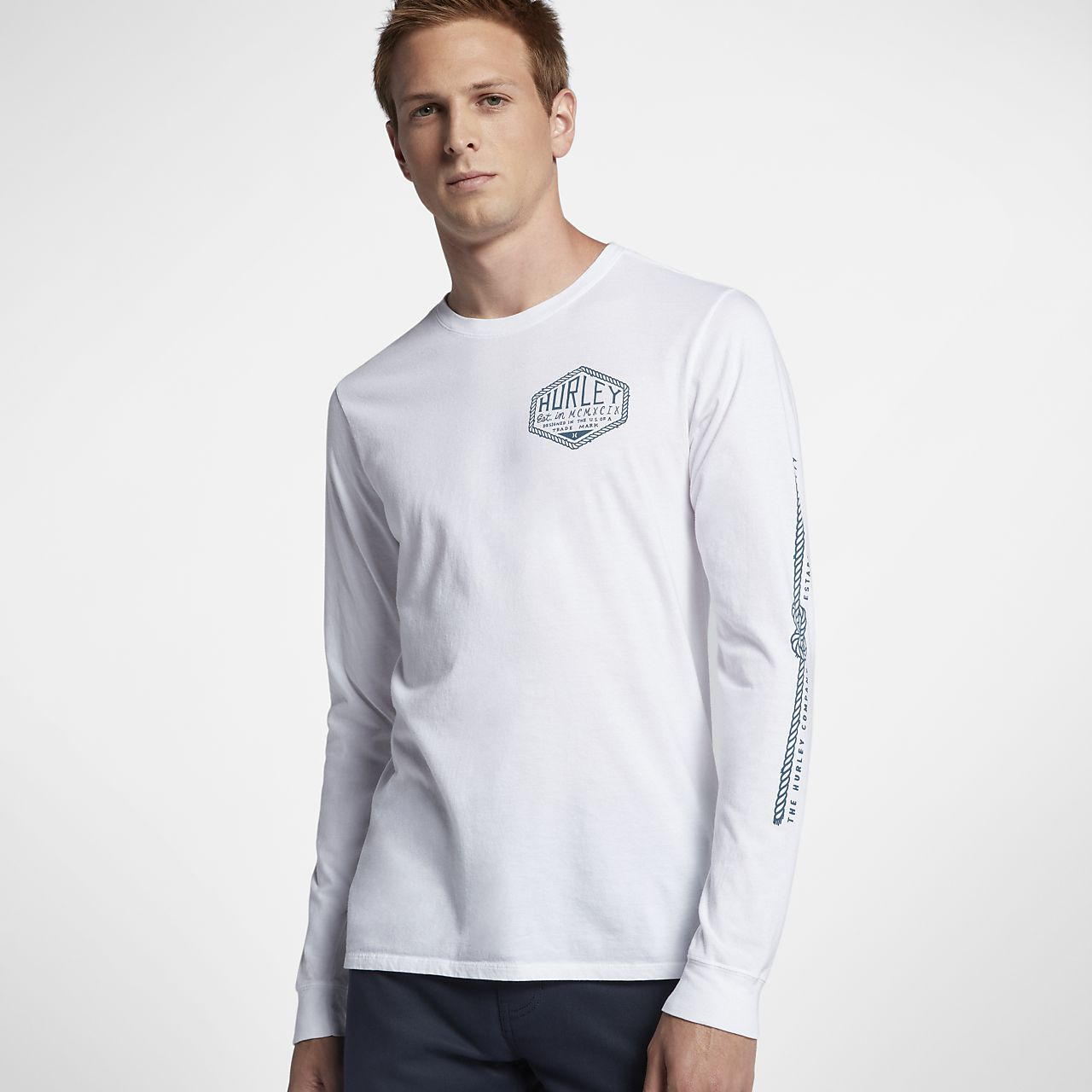 Hurley framework men 39 s long sleeve t shirt Mens long sleeve white t shirt