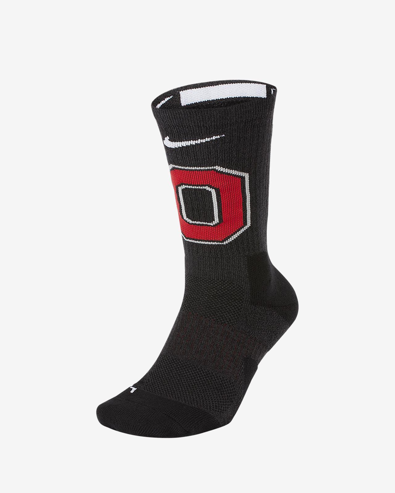 Nike College Elite (Ohio State) Basketball Crew Socks