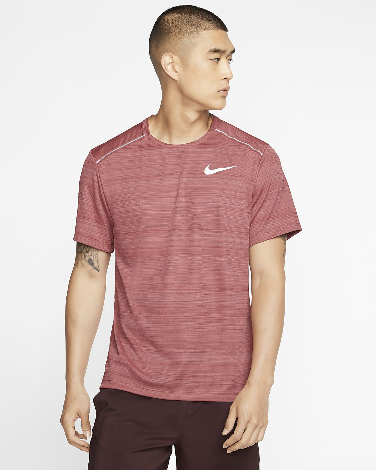 Nike Dri-FIT Miler Kısa Kollu Erkek Koşu Üstü