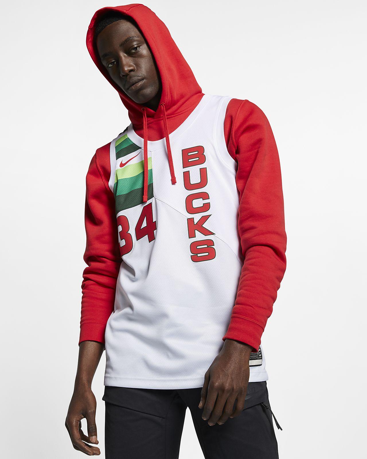 Maglia Nike NBA Connected Giannis Antetokounmpo Earned City Edition Swingman (Milwaukee Bucks) - Uomo