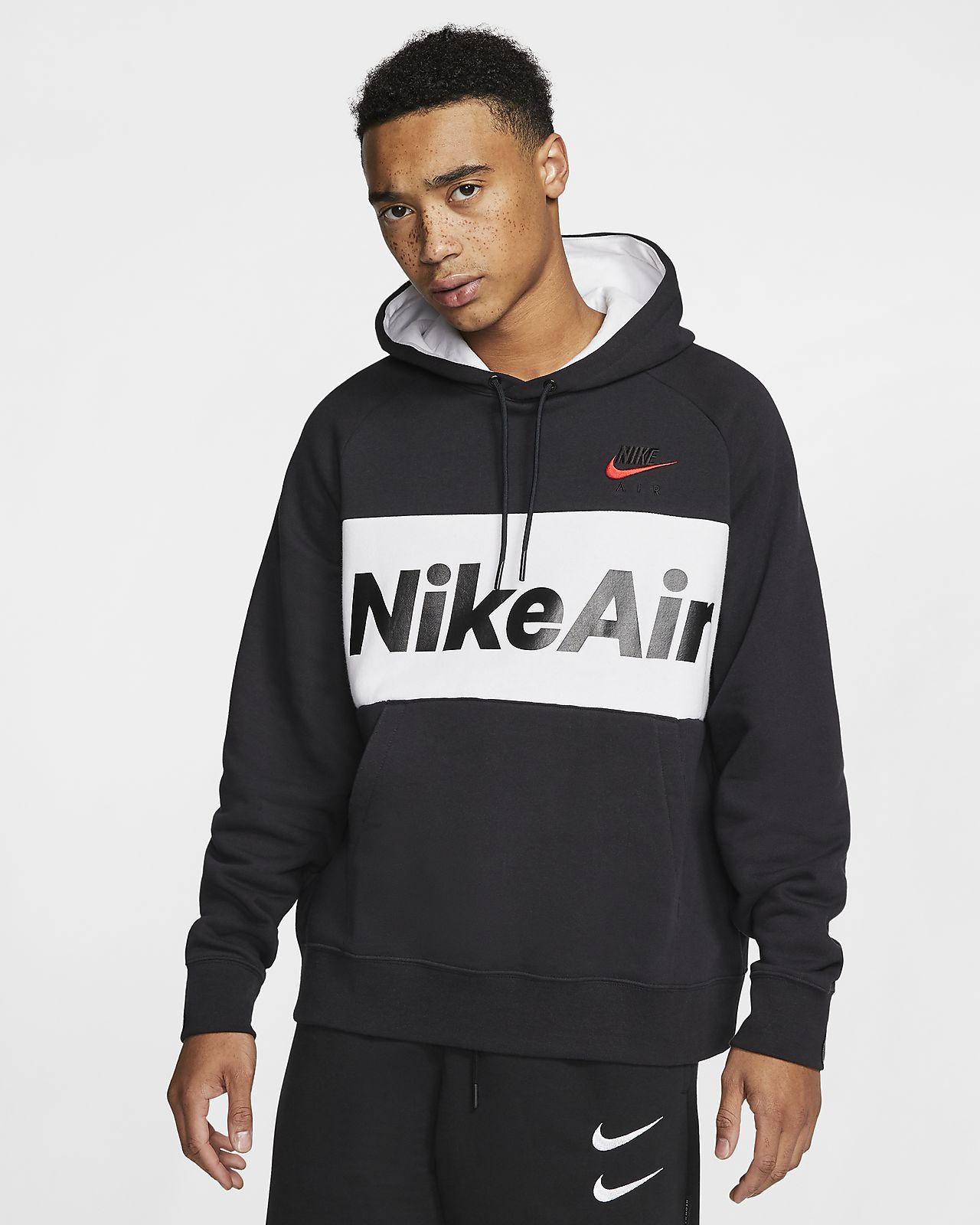 Details about Nike Sportswear Air Fleece Sport Jacket sweatshirt cotton hood